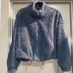 """Urban Outfitters """"cropped"""" sherpa jacket"""